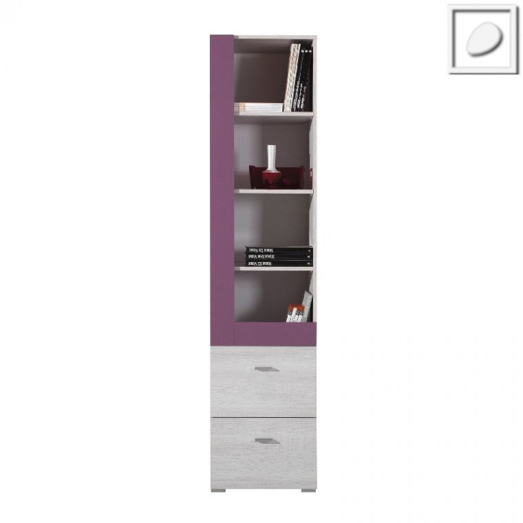 FL07 - Flash System - Opened bookcase with drawers