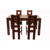 Wooden table and chairs set