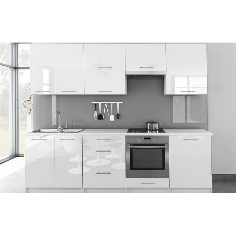 White kitchen high gloss