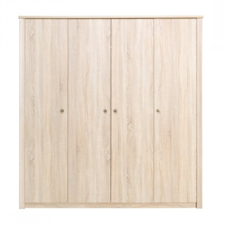 Wardrobe with four doors