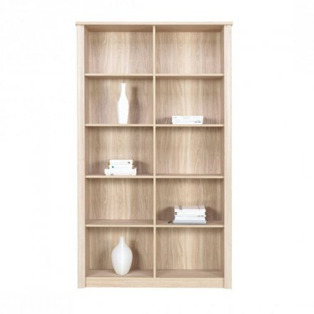 Wide open bookshelf