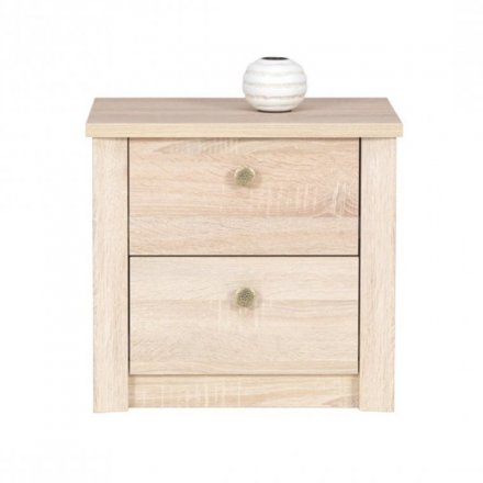 Bedside cabinet with 2 drawers