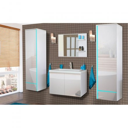 White bathroom set - gloss