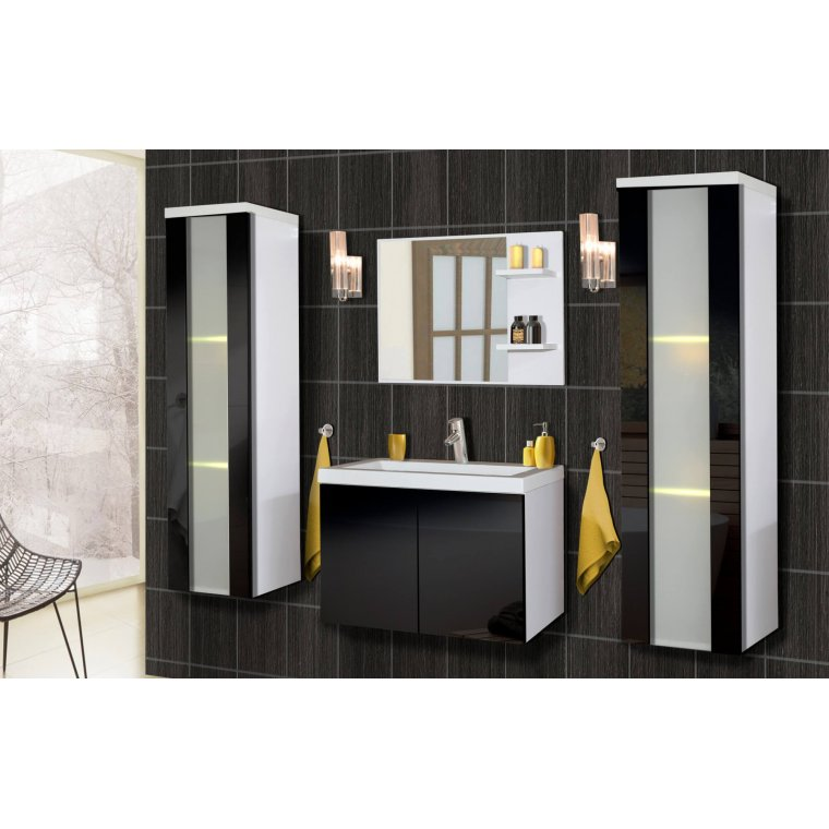 Bathroom furniture in gloss