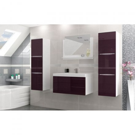 Bathroom furniture gloss + LED