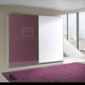 Purple and White cabinet high gloss