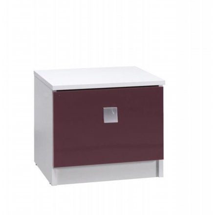 Purple bedside table high gloss