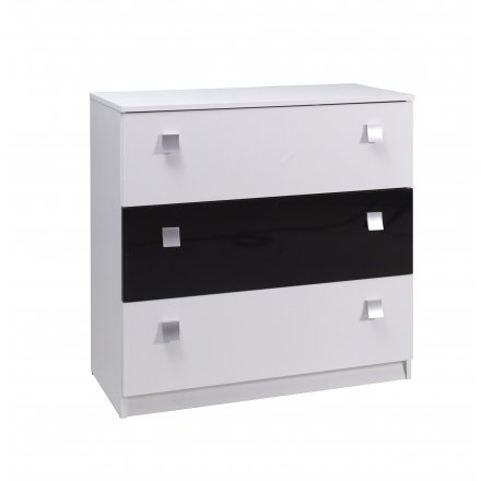 B&W gloss chest of drawers