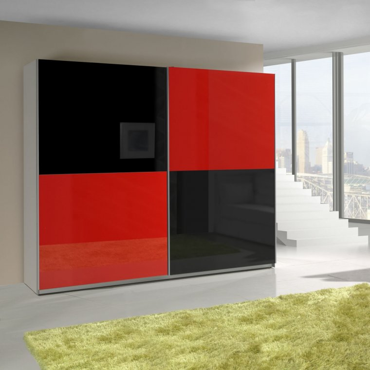 Red and Black cabinet