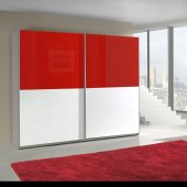 Red and white cabinet