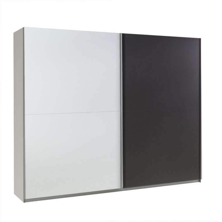 Graphite/White Wardrobe