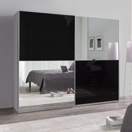 Wardrobe with mirror