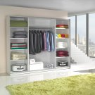 Wardrobe with a mirror and purple frame