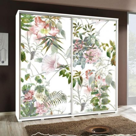 Wardrobe with graphics 205 - Flowers