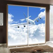 Wardrobe with graphics 205 - Airplane