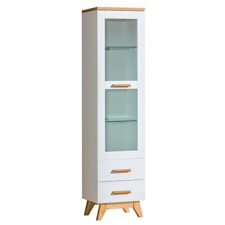 One-door display cabinet