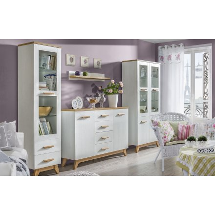 Wall unit in the Scandinavian style