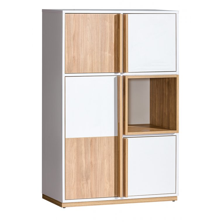Bookcase with square cells