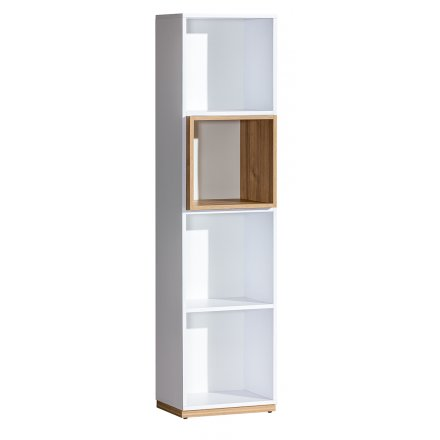 Narrow bookcase for the living room