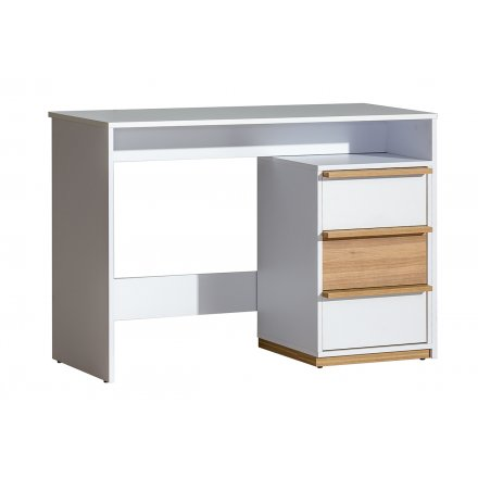 Modern brown and white desk
