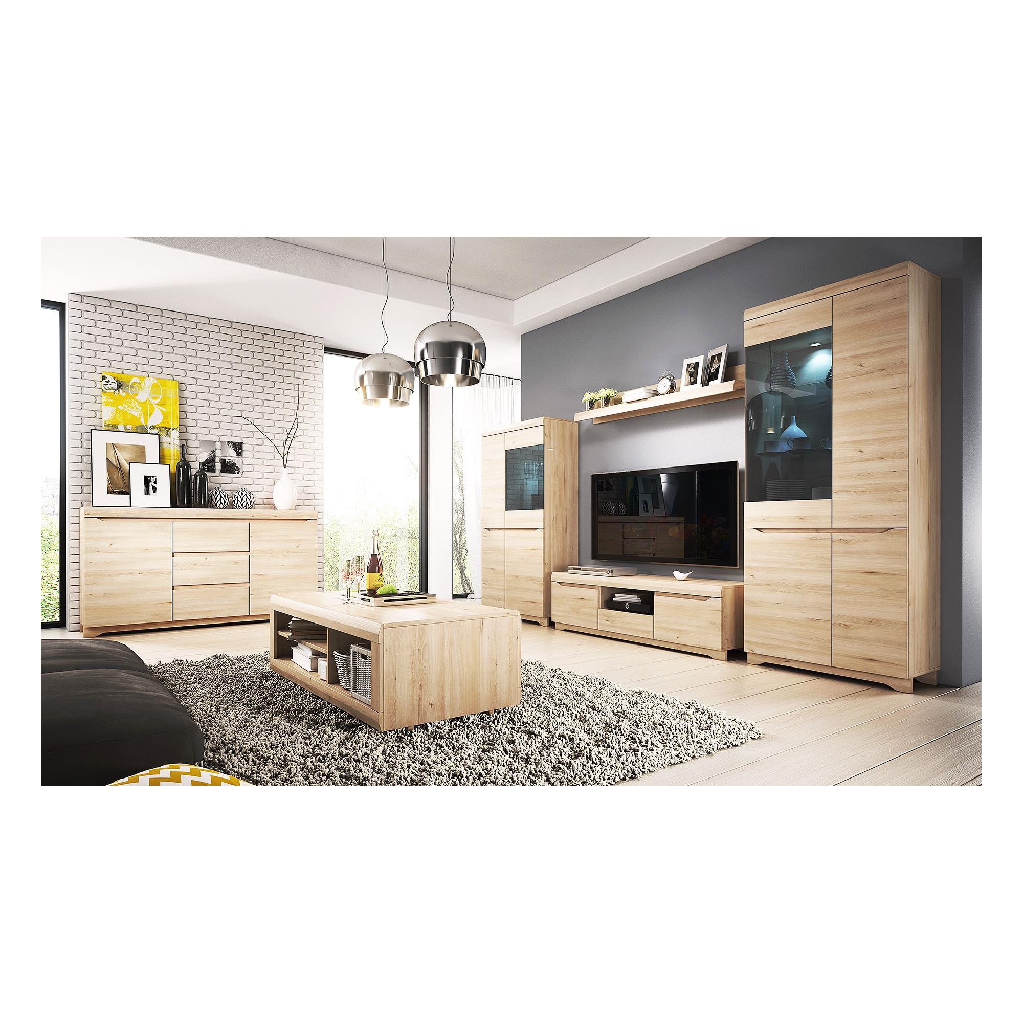 Living Room Furniture In Beech Color. Loading Zoom