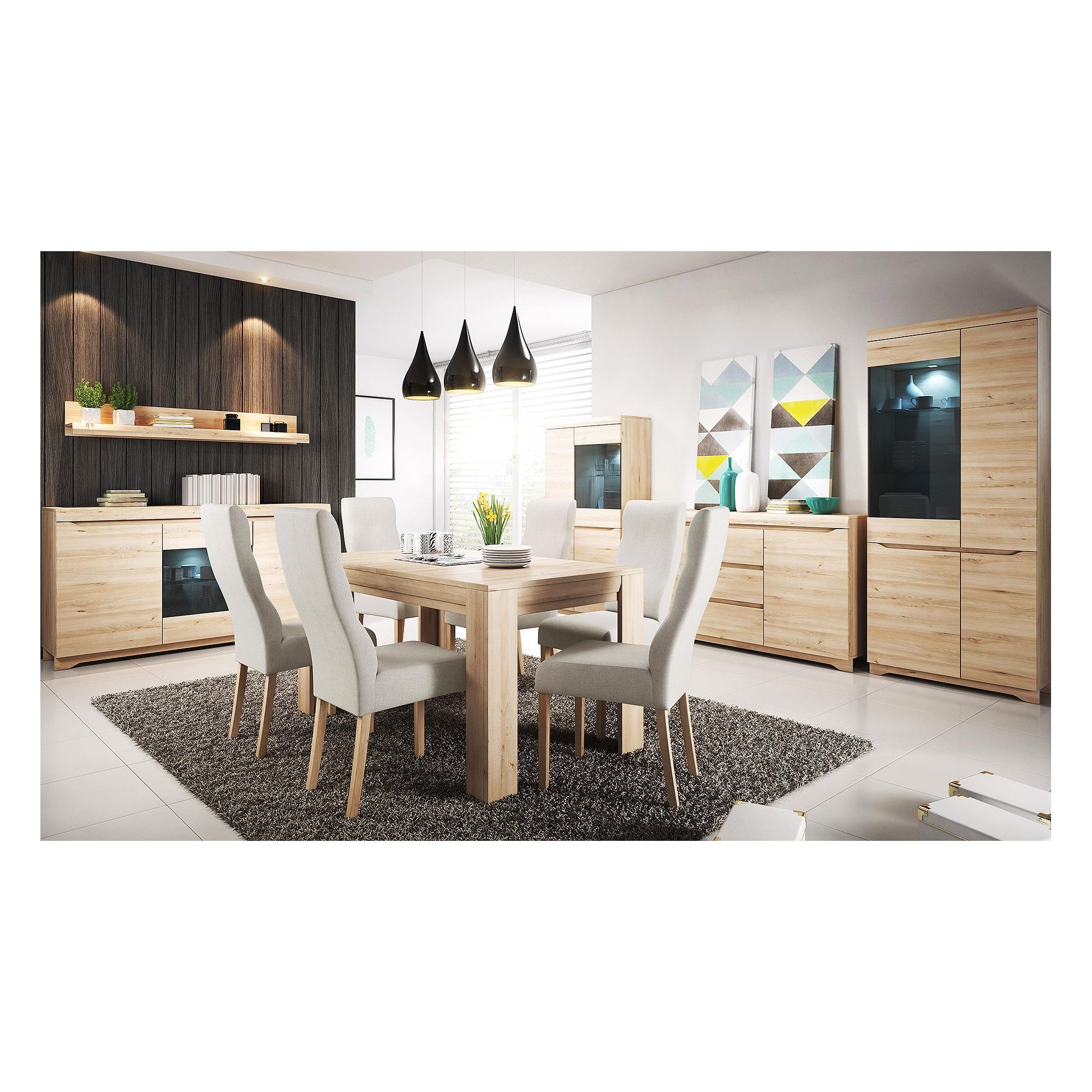 beech dining room furniture | Dining room furniture in beech color - Almond Furniture