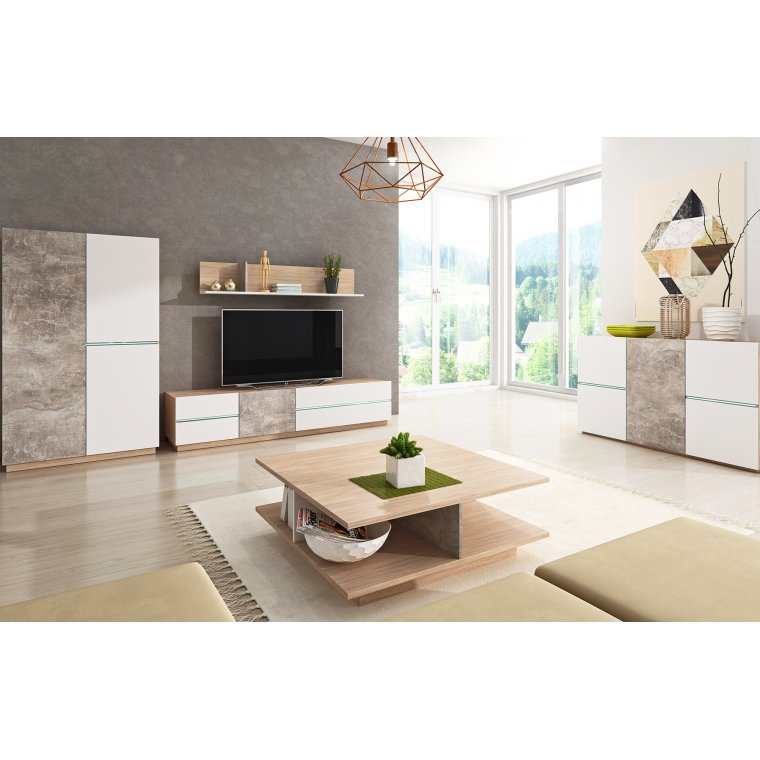 Furniture for the living room with LED lighting