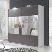 Wardrobe with lighting (4 panels)