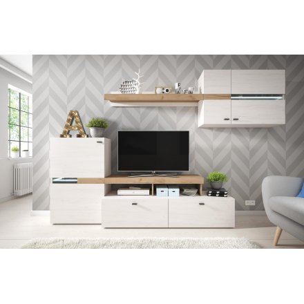 Graphite color wall unit