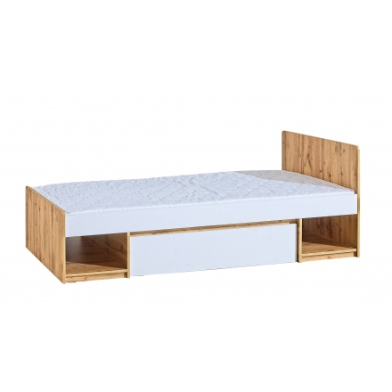 Bed with containers