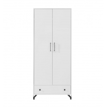 White, two-door wardrobe