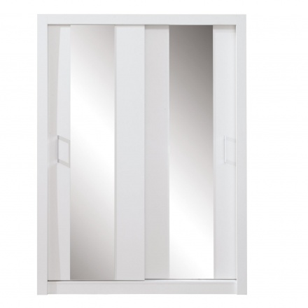 White wardrobe with mirror (160 cm)