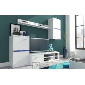 White wall unit with LED