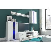 High Gloss wall unit with LED