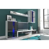 Black wall unit with LED