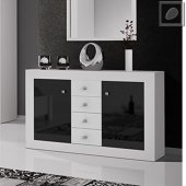 Modern wide chest of drawers