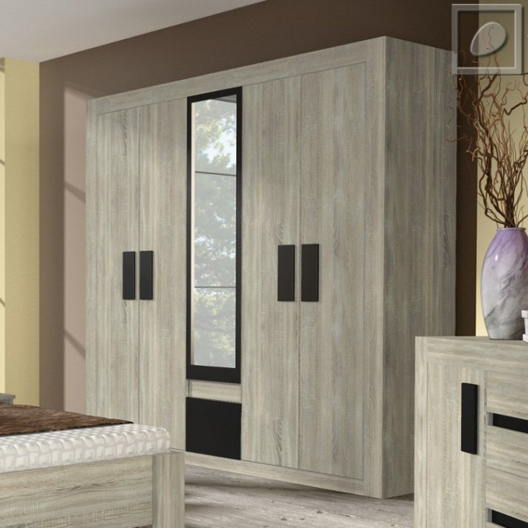 Bedroom Wardrobe With Mirror Almond Furniture